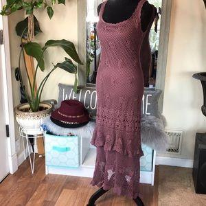 Boho classy Crocheted dress